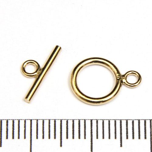 Stavlås slät 9 mm gold filled