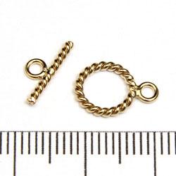 Stavlås tvinnad 9 mm gold filled