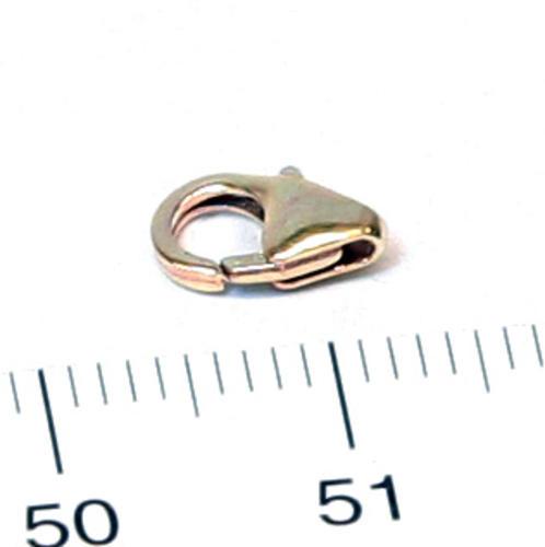 Karbinhake droppformad 8,2 mm gold filled