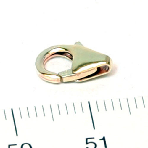 Karbinhake droppformad 10 mm gold filled