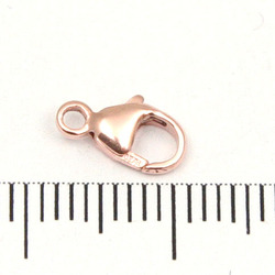 Karbinhake oval rose gold filled