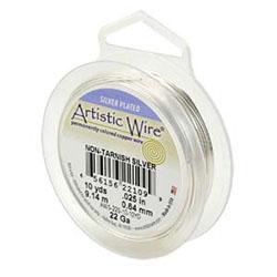 Artistic Wire non-tarnish silver color 0,64 mm