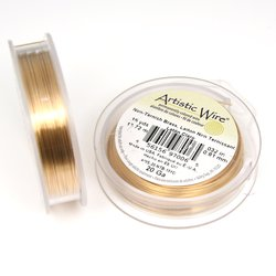 Artistic Wire 1,0 mm mässing (non-tarnish) stor rulle
