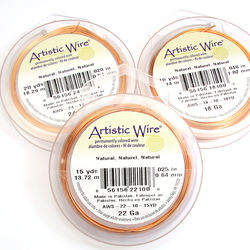 Artistic Wire 0,64 mm natural copper (non-tarnish)