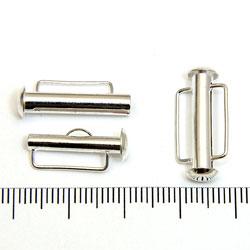 Tublås med bred ögla 21 mm silverpläterad mässing - Utgående vara