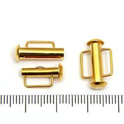 Tublås med bred ögla 16 mm guldpläterad mässing - Utgående vara