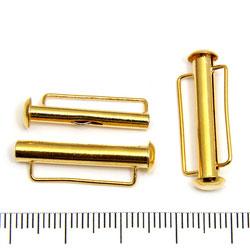 Tublås med bred ögla 26 mm guldpläterad mässing - Utgående vara