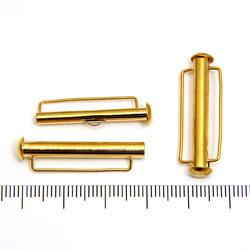 Tublås med bred ögla 31 mm guldpläterad mässing - Utgående vara