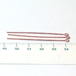 Öglepinnar 50 mm 0,8 mm solid koppar