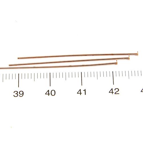 Hattpinnar 40 mm 0,5 mm brons