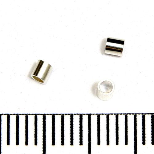 Klämtuber 2 x 2 mm sterling silver