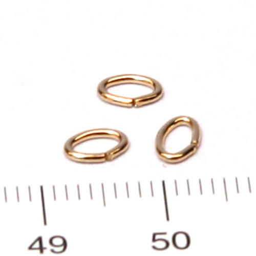 Oval motring 5,5 mm gold filled