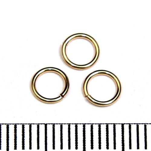Öppen motring 5 mm 0,64 mm gold filled