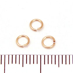 Öppen motring 4 mm 0,64 mm gold filled