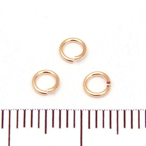 Öppen motring 4 mm 0,64 mm gold filled