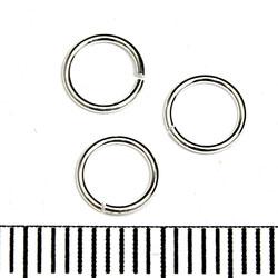 Öppen motring 6 mm 0,64 mm sterling silver