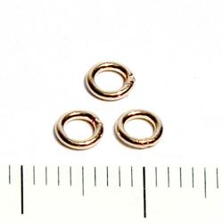 Lödd motring 4 mm 0,76 mm gold filled