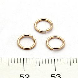 Öppen motring 6 mm 0,76 mm gold filled - Utgående vara
