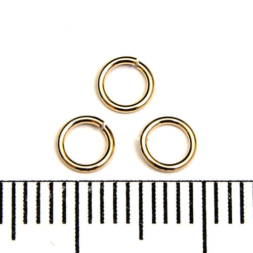Öppen motring 4,5 mm 0,64 mm gold filled
