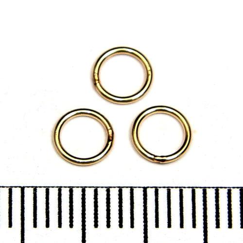 Lödd motring 5 mm 0,64 mm gold filled