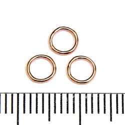 Lödd motring 5 mm 0,64 mm rose gold filled