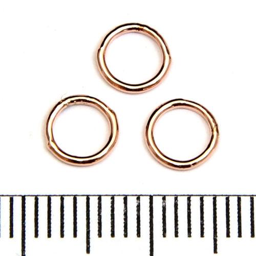 Lödd motring 6 mm 0,76 mm rose gold filled
