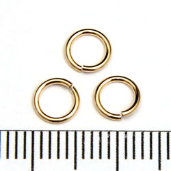 Öppen motring 5,5 mm 0,76 mm gold filled