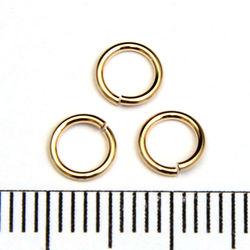 Lödd motring 5,5 mm 0,76 mm gold filled
