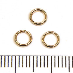 Splitring 5,2 mm gold filled