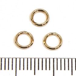 Splitring 5,2 mm gold filled