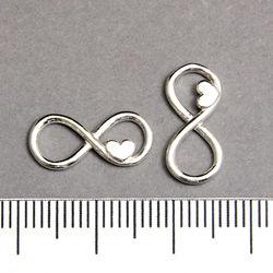 Evighetstecken med hjärta 18 mm sterling silver