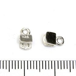 Ändavslut platt 4 mm sterling silver