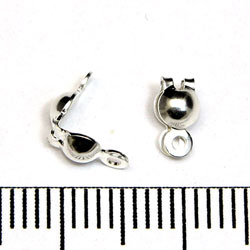 Knutgömma 2,4 mm med slutna öglor sterling silver