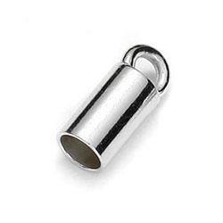 Ändavslut rör för 3,0 mm läderband sterling silver