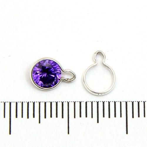 Wrap-Tite sarg med en ögla för 5 mm stenar sterling silver - Utgående vara