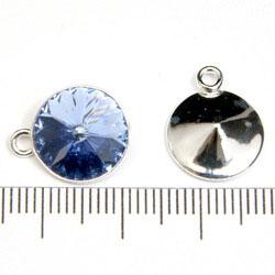 Hållare med ögla för 12 mm rivoli sterling silver