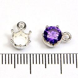 Snäppfäste för 6 mm stenar sterling silver