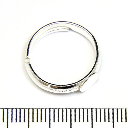Ringstomme med 6 mm platta justerbar storlek sterling silver