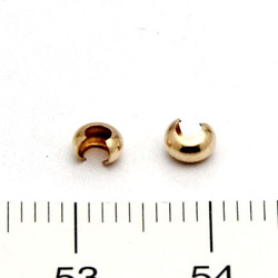 Klämpärlegömma 3 mm gold filled