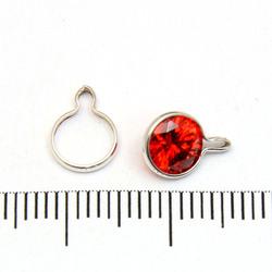 Wrap-Tite sarg för 6 mm stenar med en ögla sterling silver - Utgående vara