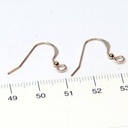 Örkrokar platt med 2 mm kula gold filled