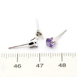 Örstickare med snäppinfattning för runda 4 mm stenar sterling silver