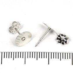 Örstickare med 8 mm platta sterling silver