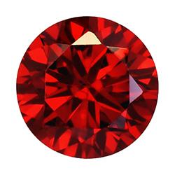 Cubic zircon rund mörkröd 2 mm