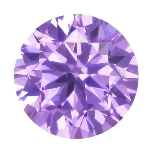 Cubic zircon rund ljus ametist 6 mm