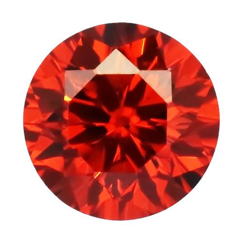 Cubic zircon rund ljusröd 2 mm