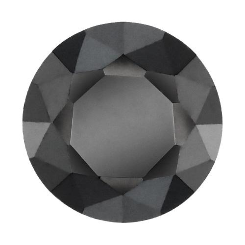 Cubic zircon rund svart 2 mm