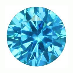 Cubic zircon rund turkosblå 3 mm
