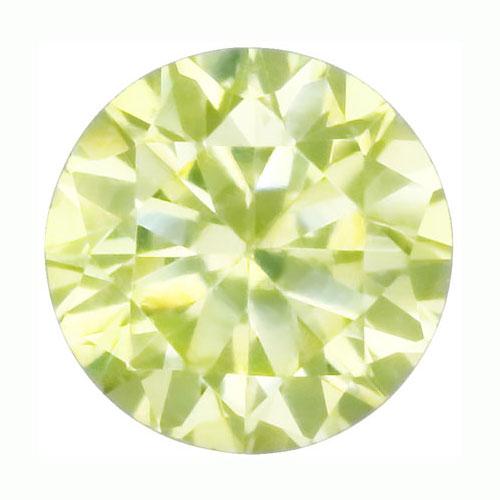 Cubic zircon rund limegrön 6 mm