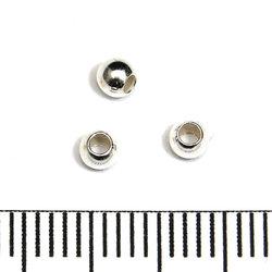 Slät skarvlös silverpärla 3 mm hål 1,5 mm sterling silver